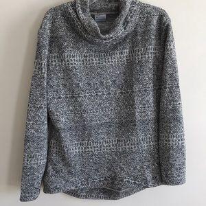COLUMBIA Sweater Season print cowl neck sweater